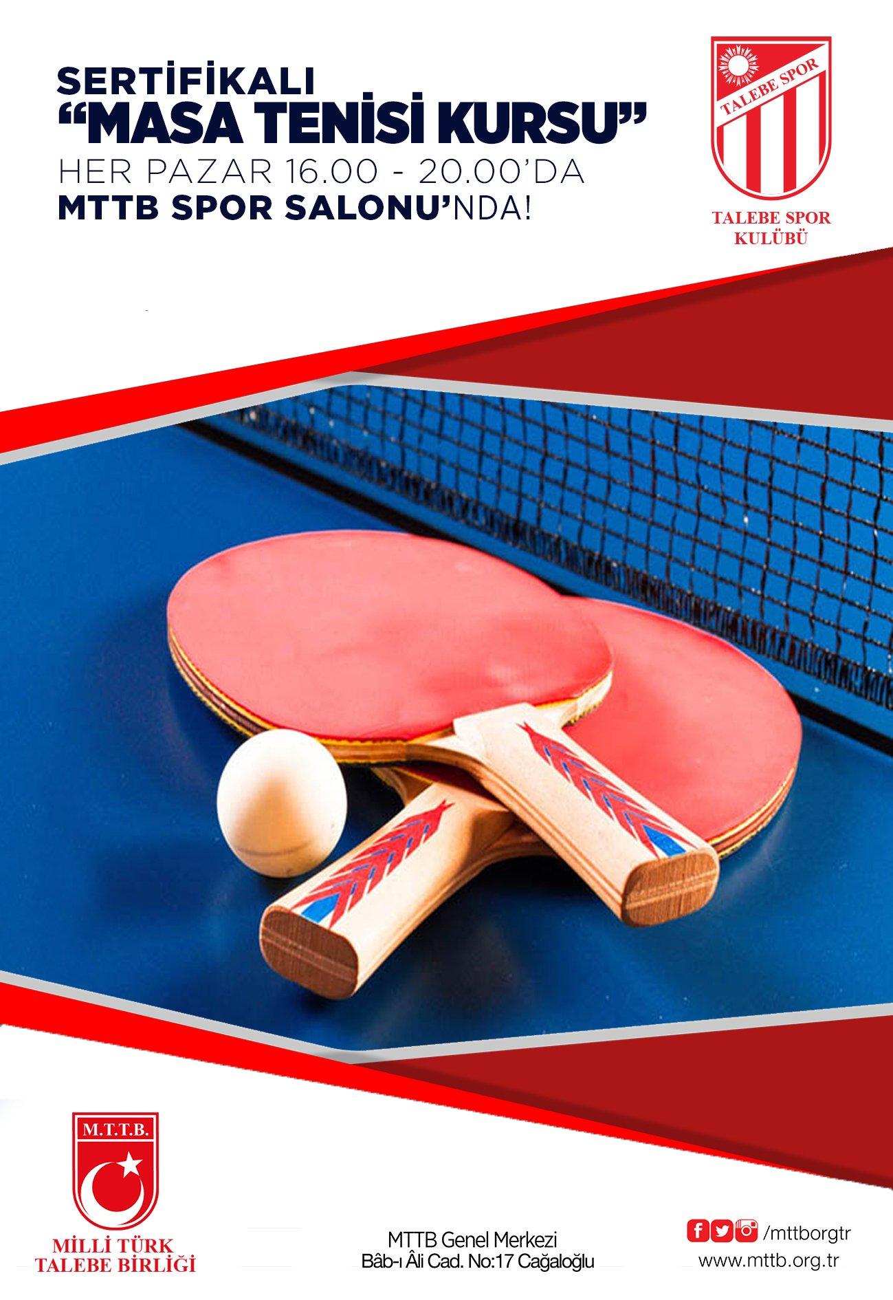 Sertifikalı Masa Tenisi Kursu