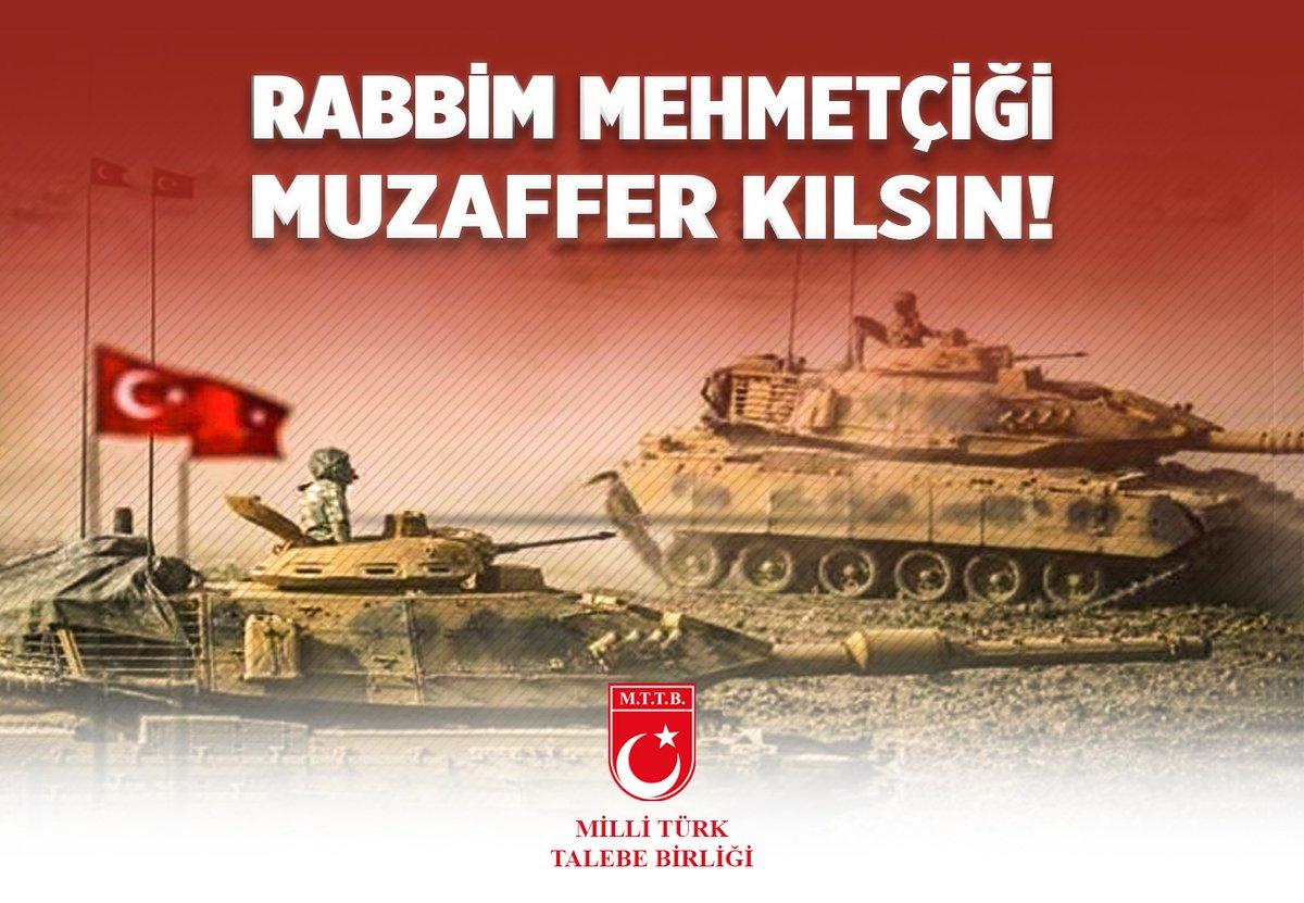 Rabbim Mehmetçiği muzaffer kılsın!