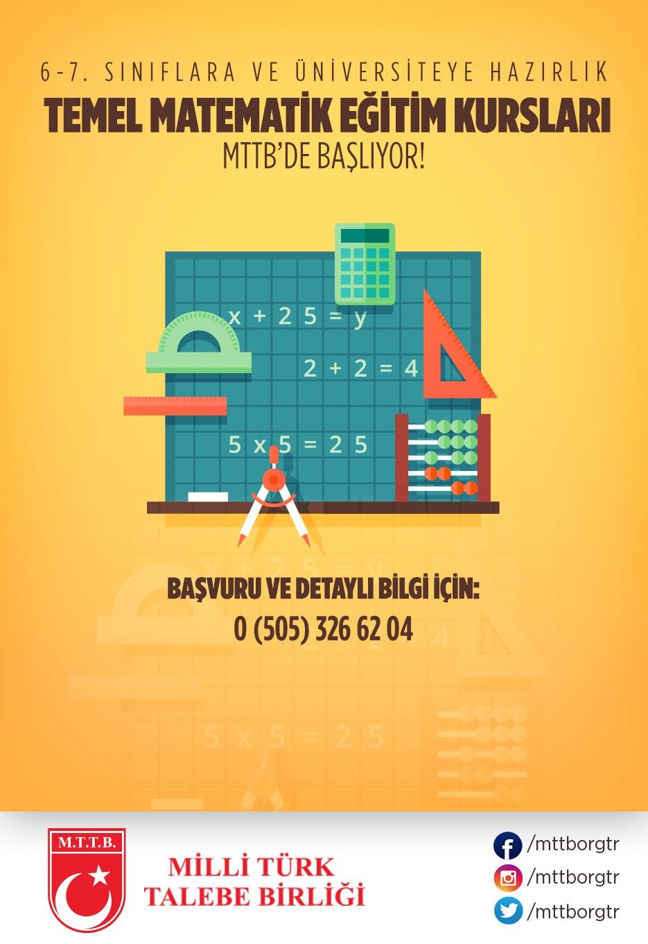 Temel Matematik Eğitim Kursları