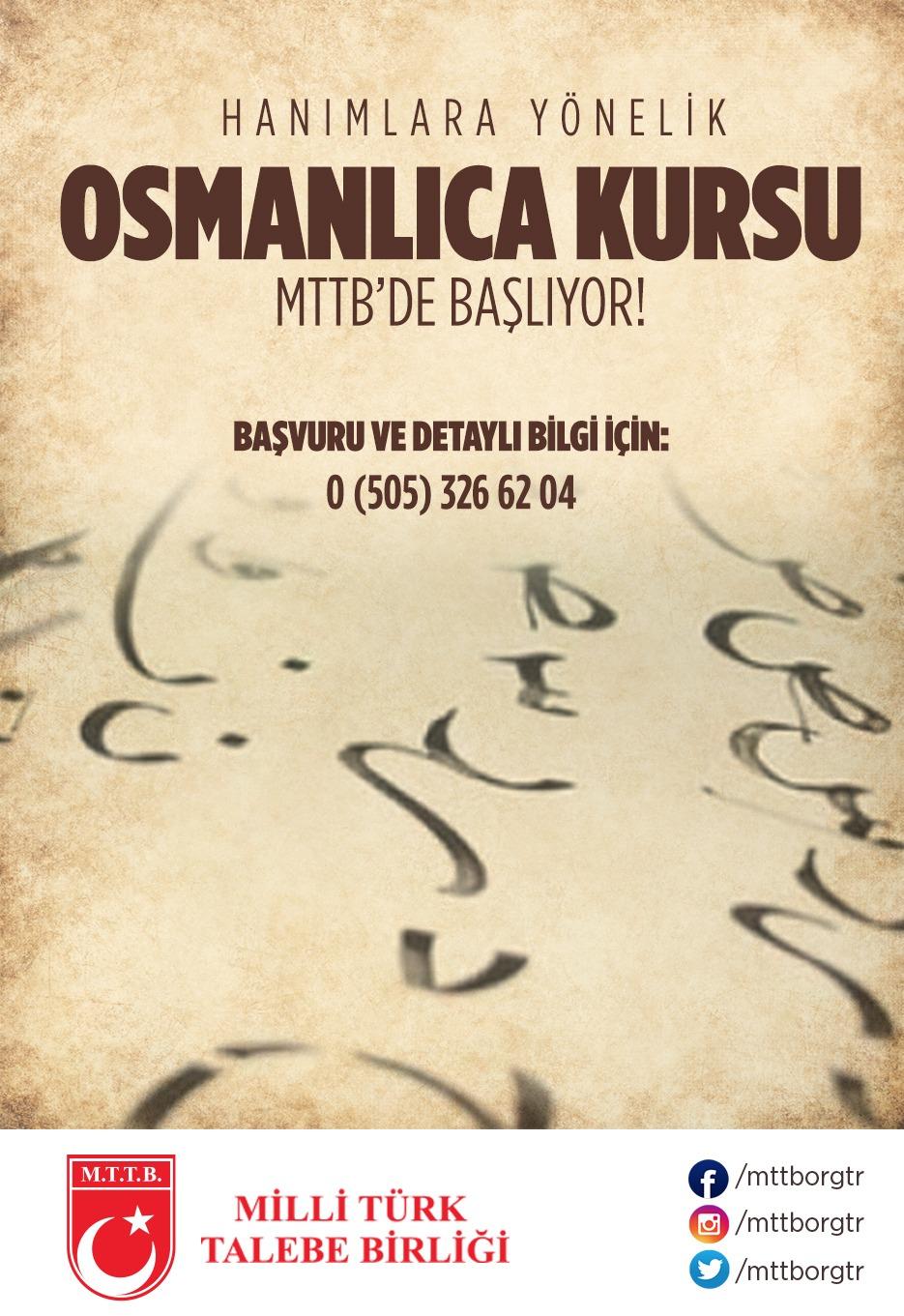Osmanlıca Eğitim Kursu