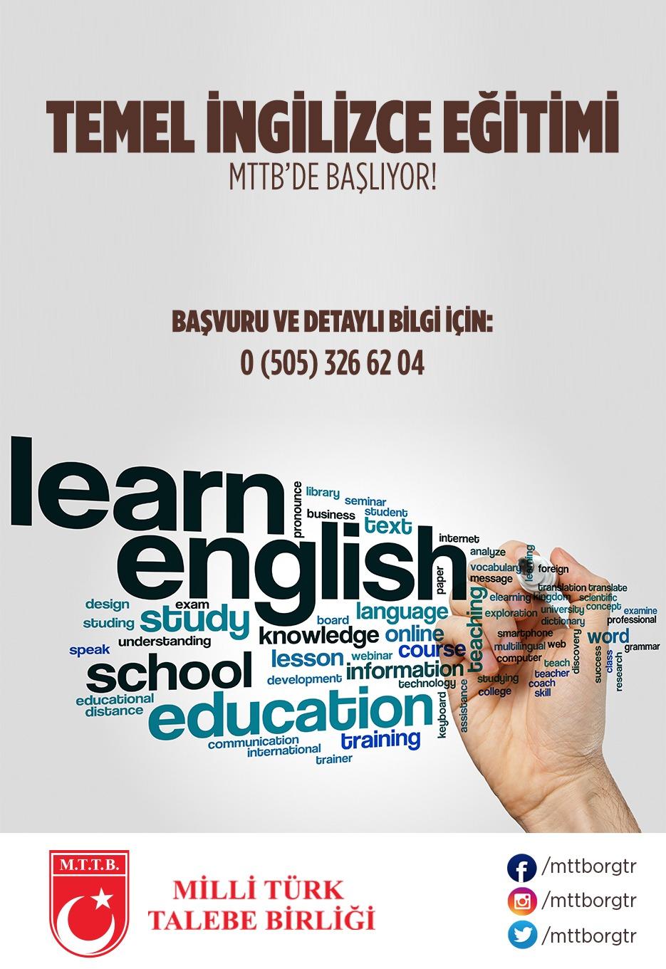 Temel İngilizce Eğitim Kursu