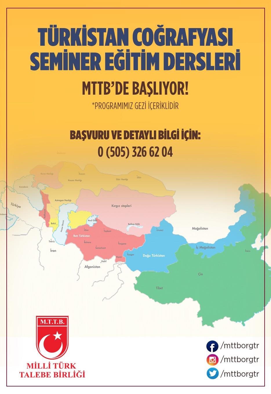 Türkistan Coğrafyası Seminer Eğitim Dersleri