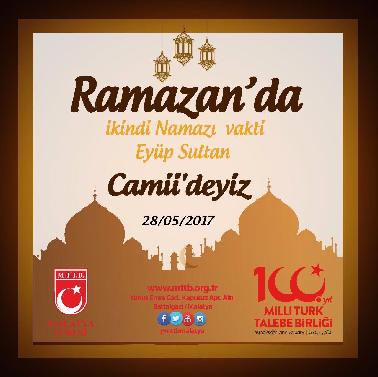 Malatya| Ramazan'da İkindi Vakti Eyüp Sultan Camii'deyiz.