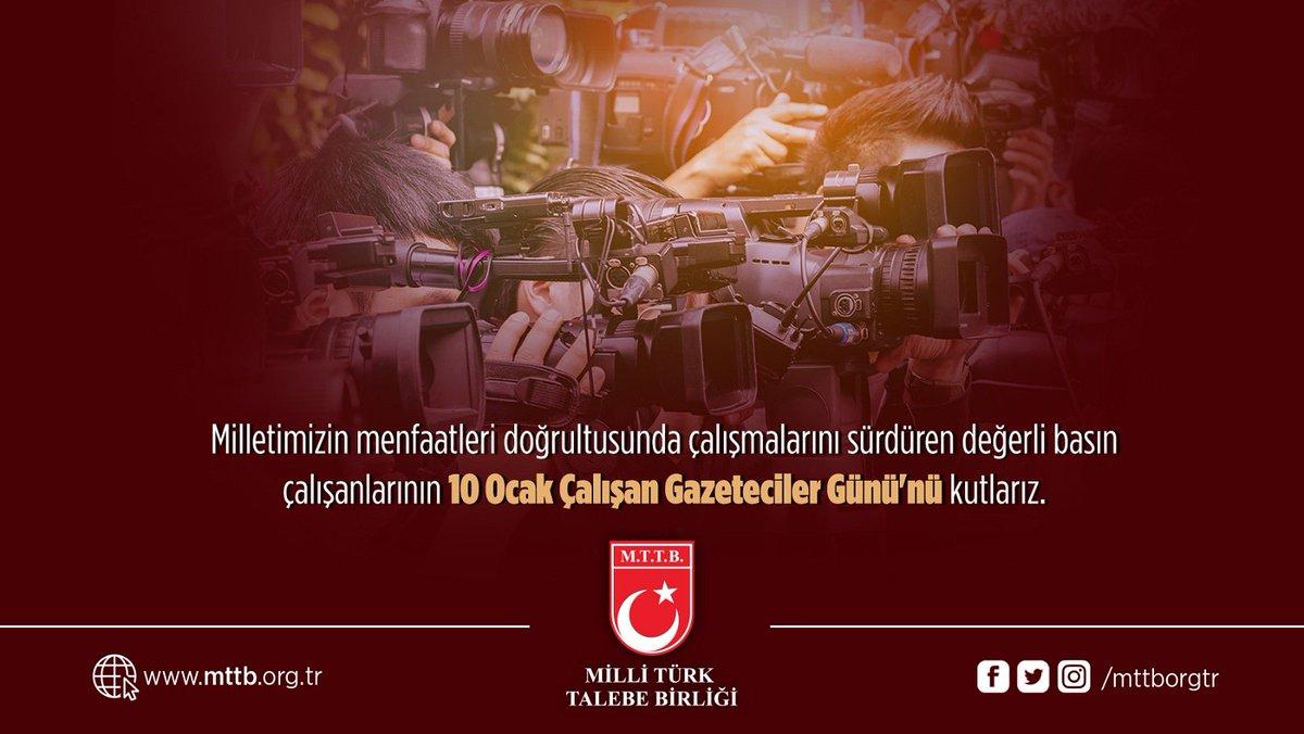 10 Ocak Çalışan Gazeteciler Günü Kutlu Olsun!