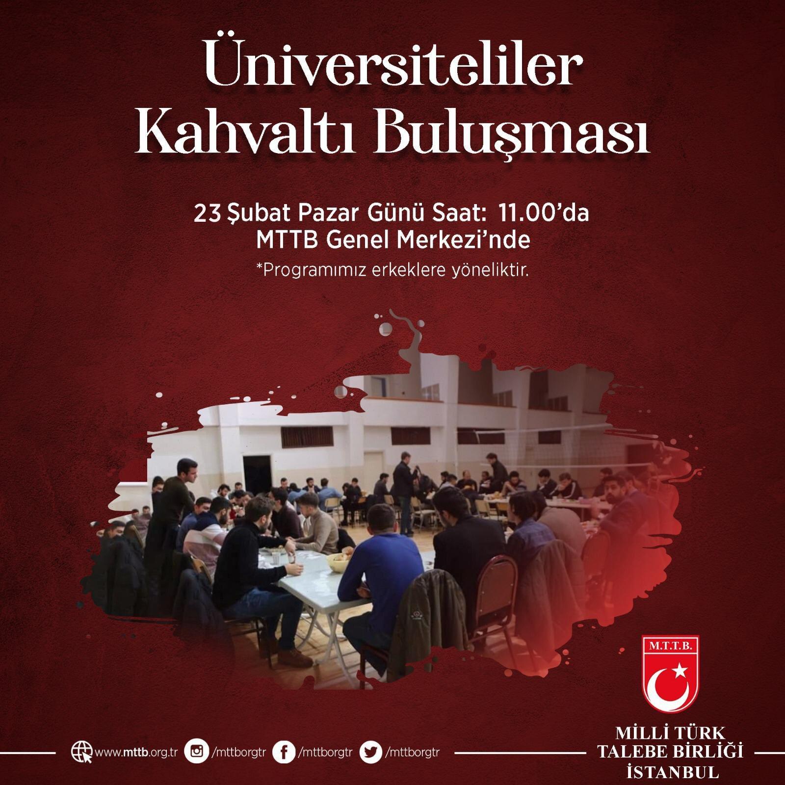 'Üniversiteliler Kahvaltı Buluşması'