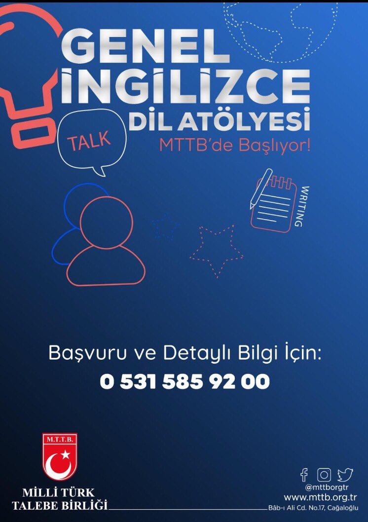Genel İngilizce Dil Atölyesi MTTB'de Başlıyor!