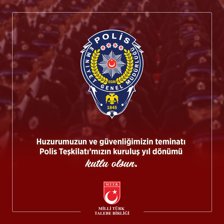 Polis Teşkilatı'mızın 175. Kuruluş Yıl Dönümü Kutlu Olsun.